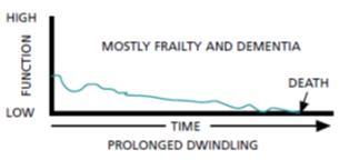 short period of decline dying process